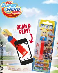 European Super Hero Girls Pez Play Scan Codes