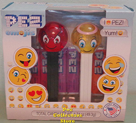 Crystal Angel and Devilish Pez Emojis Twin Pack