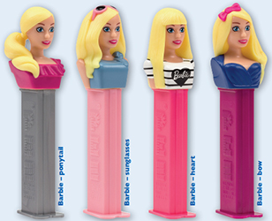 European Barbie Pez Set
