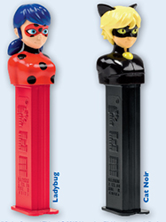 European Miraculous Ladybug and Cat Noir Pez