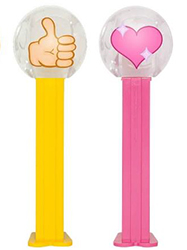 Thumbs Up and Sparkling Heart Emoji Pez
