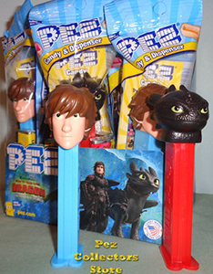 How to Train Your Dragon Hiccup and Toothless Pez MIB