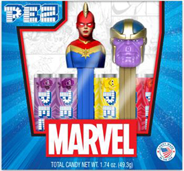 Captain Marvel and Thanos Pez Twin Pack