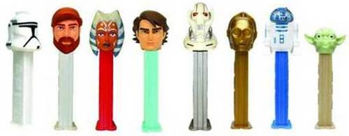 Star Wars Clone Wars Pez Set