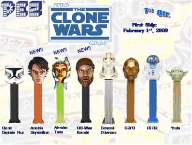 Star Wars Clone Wars Pez