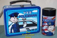 Pez Policeman Lunch box and thermos