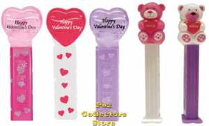 2012 Valentine Pez Hearts and Teddy Bears