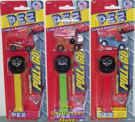 Magnetic Disney Cars Pull n Go Pez Set