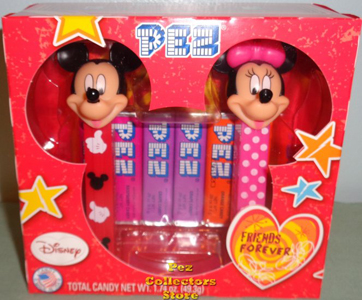 Mickey and Minnie Mouse Pez Valentine Twin Pack