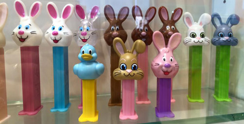 Easter Pez on display at Visitors Center