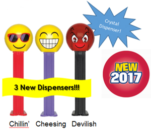 Emojis Pez from 2017 PEZ Plan