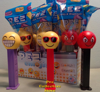Chilling, Cheesing and Devilish Emoji Pez