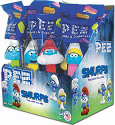 Smurfs Pez Counter Display Box