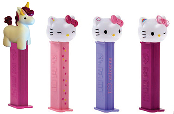 2018 European Hello Kitty Unicorn Pez Set Loose