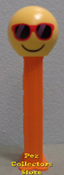 European Chillin Emoji pez on orange