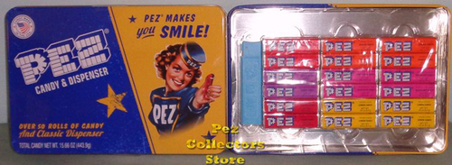 Retro Pez Candy Tin with Regular