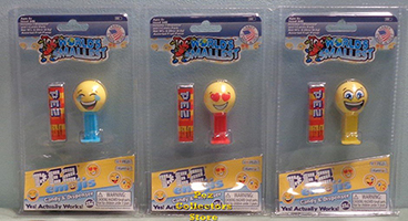 World's Smallest Emoji Pez Set