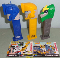 European Transformer Pez with Play Codes
