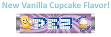 Vanilla Cupcake flavor Pez