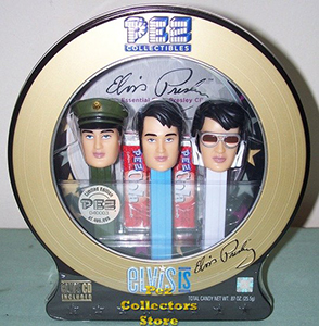 Elvis Pez Gift tin with CD