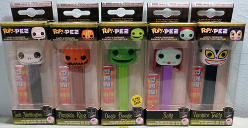 Set of 5 Nightmare Before Christmas POP!+PEZ