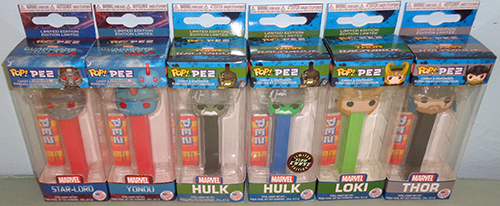Original Marvel POP!+PEZ packaging