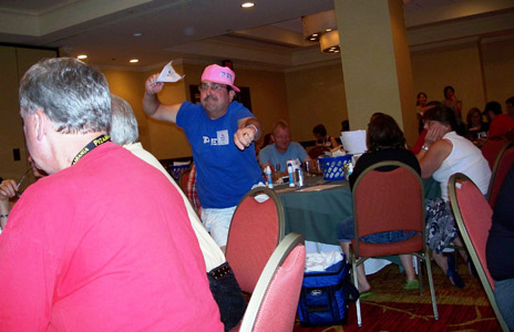 Steve Barnes is having fun at Bingo