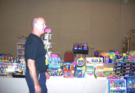 Russ MacKimmie in front of the Pez Collectors Store