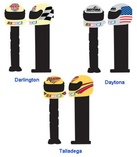 Daytona, Darlington and Talledega NASCAR Racetrack Pez
