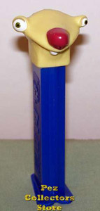 Sid the Sloth with eyelid on Blue Stem Pez