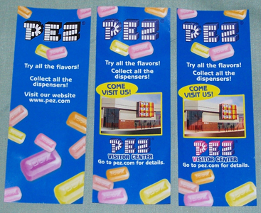 Series 1, Series 2 and Misprint Fun Facts Pez Inserts