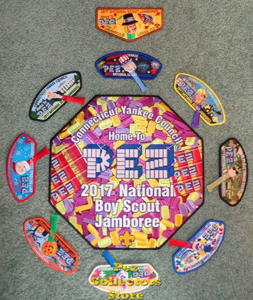 bSA Yankee Council 2017 Jamboree Pez patch set