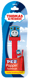 Poppin Brush Buddies Thomas Train Pez Toothbrush