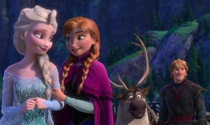 Anna, Elsa, Olaf and Kristoff from Frozen 2