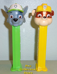 European Paw Patrol Rocky and Rubble Pez Loose