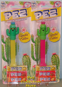 Spike and Lily Cactus Pez mint on card