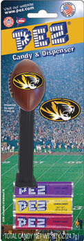 University of Missouri Mizzou Tigers Football Pez