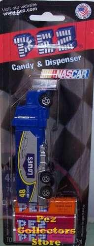 Jimmy Johnson Lowe's NASCAR Hauler Pez