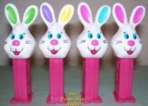 Multi colored Easter bunnies on midi stems