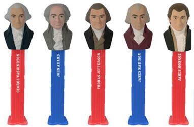 US Presidents Series 1 Pez