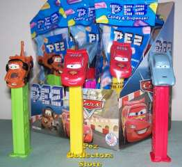 Disney Cars 2 Pez dispensers