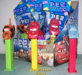 Disney Cars 2 Pez dispensers