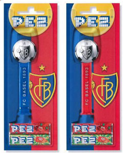 Colored FC Basel Pez Soccer Balls Loose