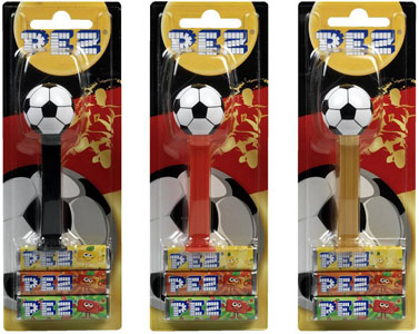 Dated 2014 Soccer Ball Pez from Switzerland