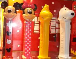 Mickey and Minnie couples and Woodstock and Snoopy Couples Pez