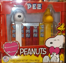 Valentine Friends Forever Snoopy and Woodstock Pez Boxed Set