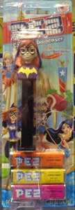 Batgirl Pez Superhero Girls Pez Mint on Card