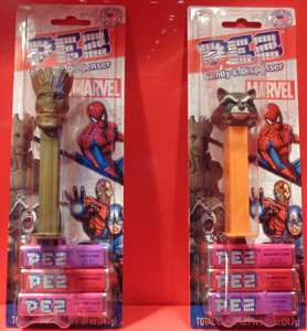 Marvel Groot and Rocket Raccoon Pez Mint on Card