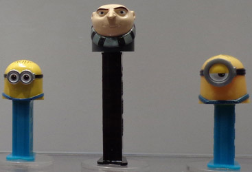 Minions Jerry, Gru and Stuart Pez Loose