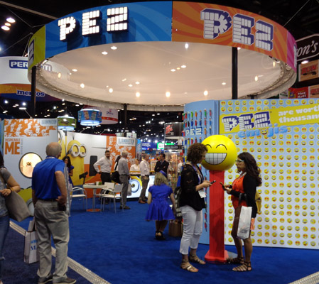 Pez Candy, Inc. Booth at Sweets and Snacks Expo, 2016